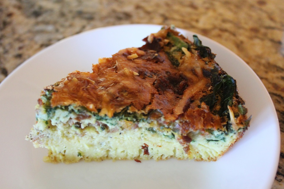 Bacon & Spinach Crust-less Quiche