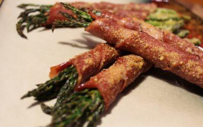 Turkey Bacon-Wrapped Asparagus