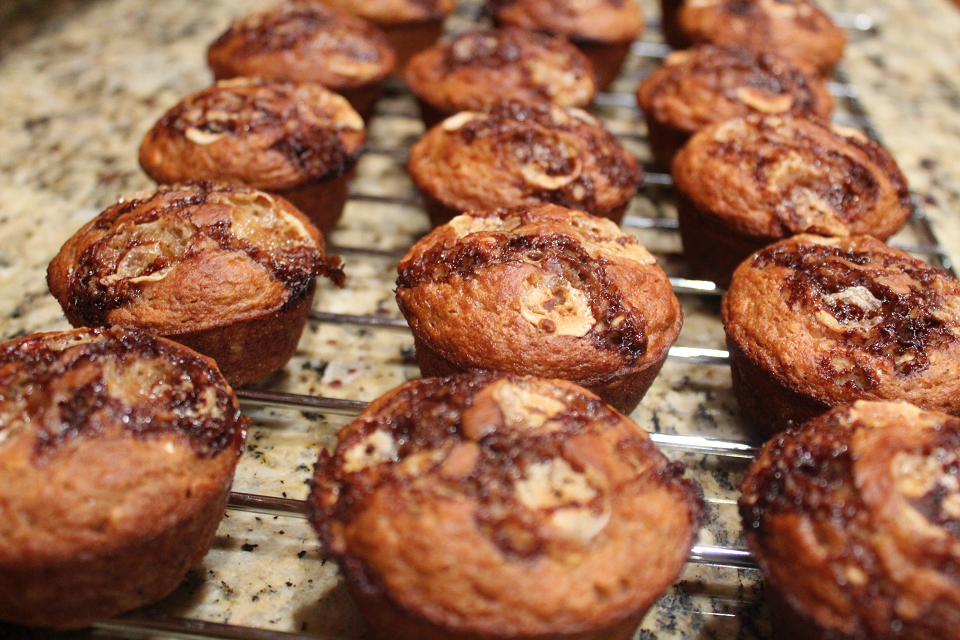 Oat-Banana Surprise Muffins